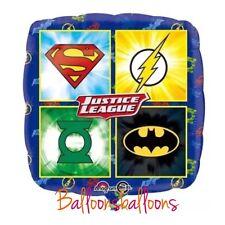 "Justice League 18"" helium balloon birthday party Super Hero Anagram Uk"