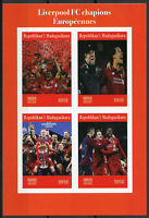 Madagascar 2019 MNH Liverpool FC Champions League 4v IMPF M/S Football Stamps