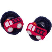 Gerber Baby Boys Velboa Booties NEW Size 0-6 Months Firetrucks Adorable