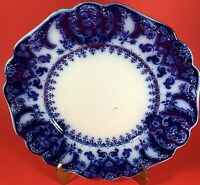 """JOHNSON BROTHERS FLORIDA ROYAL FLOW BLUE PLATE 9"""" SCALLOPED ANTIQUE"""