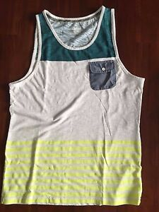 Colorfast Apparel THE  STRIPE MUSCLE TANK TOP T SHIRT( LARGE) $ 49.99