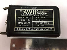 THE AWHAYDON COMPANY 7839978-565D A-31413 Time Delay Relay 28VDC