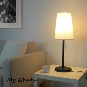 IKEA PORTILA Table lamp, white, dark brown NEW