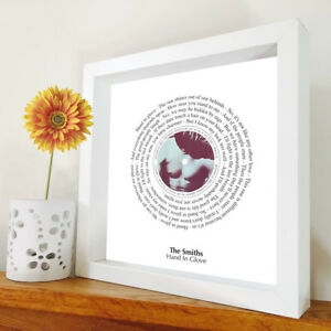 The Smiths - Hand In Glove - framed song lyrics - Morrissey - Jonny Marr artwork