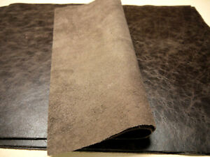 """Large Leather panels 4 pieces Chocolate Top Quality Large 18"""" x 24"""""""