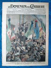 La Domenica del Corriere 11 maggio 1919 On.Orlando - Fiume - Versailles,Trianon