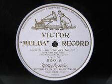 78rpm NELLIE MELBA sings LUCIA DI LAMMERMOOR - MAUVE VICTOR MELBA RECORD 95013