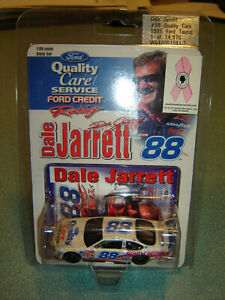1999 Dale Jarrett #88 Quality Care Breast Cancer Ford Taurus 1:64 ACTION New