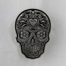 Biker Chopper Rockabilly Sugar Skull Blumen Paisley Pin Anstecker Anstecknadel