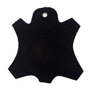 Premium Garment Grade Pig Suede Leather Hide 0.5mm Avg 7-9 sqft - Black