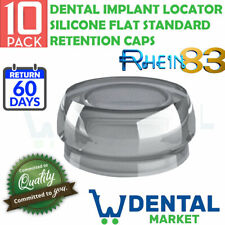 X 10 Dental Implant Locator Silicone Flat Standard Retention Caps
