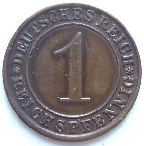 Top! 1 Reichspfennig 1924 E IN Extremely fine Rarely
