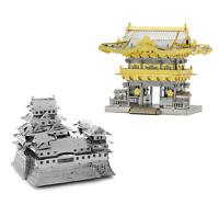SET of 2 Fascinations Metal Earth Himeji Castle & Yomeimon Gate 3D Model Kits