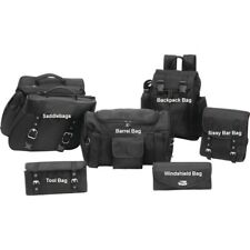 7PC MOTORCYCLE HEAVY DUTY HEAT RESISTANT SADDLEBAGS TOURING SET FOR HARLEY