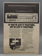 Vintage Magazine Ad Print Design Advertising Pioneer Centrex Stereo System