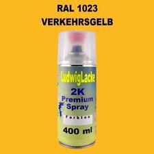 Verkehrsgelb   2K Spraydose Autolack Qualität RAL 1023  400ml schnell trocken