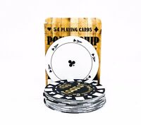 Poker Chips Playing Cards High Quality Circular Deck of 54 Cards Novelty Gift