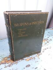 More details for antique advertising book tin. weapons of precision. burroughs wellcome & co. wwi