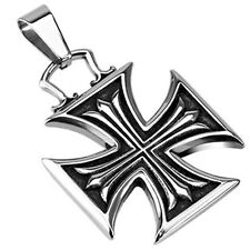 Stainless Steel Iron Cross Within Celtic Cross Pendant P188