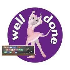 Teacher Reward Sticker 48 30mm Well Done Dancing School Ballet