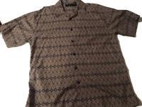 Mens Hawaiian Style Shirt Cactus Black Label Sz XL