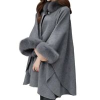 Cloaks Sweater Long Sleeve Coats Poncho Cardigans Knitwear Women Winter Fashion
