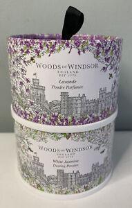 2 WOODS OF WINDOSOR Lavender Jasmine Dusting Powder with Body Puff, 3.5 oz 2 PK