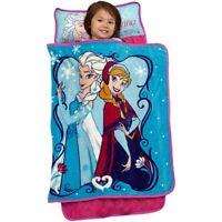 Disney Frozen Nap Mat Kids Toddlers Sleep Pink Blue Girls Blanket  Pillow New