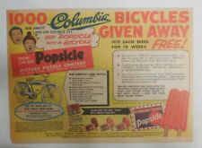 Popsicle Ad: Abbott & Costello Columbia Bike Prizes!  1954 Size: 7 x 10 inch
