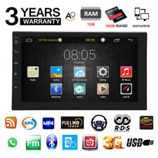 "7"" Double 2DIN Car Radio Stereo Quad Core Android 6.0 WIFI MP5 GPS Nav HOT ov 5"