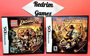 Lego Indiana Jones 1 2 Nintendo DS Video Games