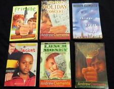 6 ANDREW CLEMENTS childrens BOOK LOT FRINDLE award winners School Report News