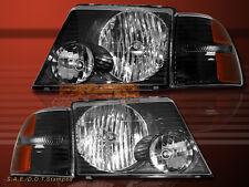 02-05 FORD EXPLORER HEADLIGHTS JDM BLACK+ CORNER 4 PCS 03 04