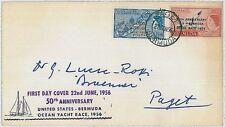 BERMUDA -  POSTAL HISTORY : FDC COVER - 50TH ANIVERSARY OCEAN RACE 1956