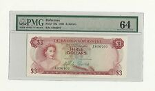 1965 The Bahamas Government Three Dollars PMG 64