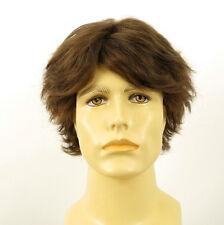 Perruque homme 100% cheveux naturel châtain clair ref JUSTIN 8