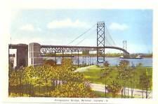 Ambassador Bridge Windsor Canada Postcard