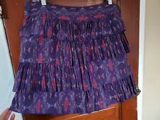 GAP Women's 10 Purple Tier Cotton Silk Lined Skirt