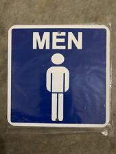 Men mini Metal Bathroom Room Sign 6�x6�