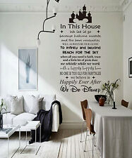 IN THIS HOUSE WE DO DISNEY Vinyl Wall Decal Sticker Room Decor Family Rules