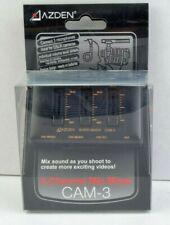 Azden 3-Channel Microphone Mixer CAM-3 New #MAPCAM-3