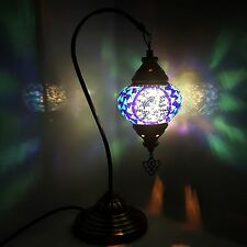 Turkish marroquí Colorido Mosaico Lámpara TIFFANY Cristal Escritorio Vendedor GB
