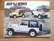 Jeep CJ-Series (CJ-5, CJ-6, CJ-7) Prospekt / Brochure / Depliant, GB, 1979?