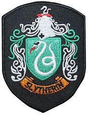 Kleinere Slytherin Hogwarts Haus Schild Harry Potter Eisen auf Applikation Patch