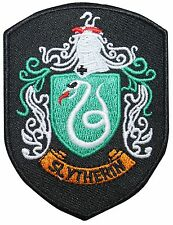 Smaller Slytherin Hogwarts' House Shield Harry Potter Iron On Applique Patch