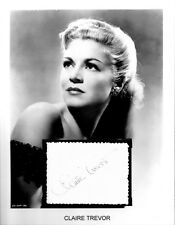 Claire Trevor Autograph Key Largo The High and the Mighty Dead End Stagecoach