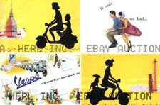 Vintage Vespa scooter collection poster print ca 8 x 10 print prent poster prent