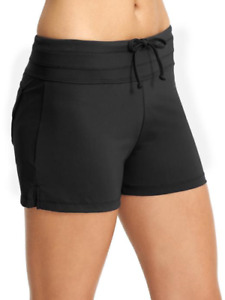 Athleta Fun in the Sun Swim Short S Small Black NWT #413982 Swimsuit Short