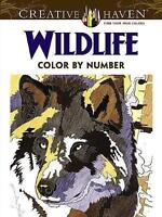 Creative Haven Wildlife Color by Number Coloring Book by Diego Pereira