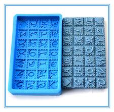 Chocolate Silicone Letter/Alphabet Shape Soap Mold Fondant Cake Decorating Mould